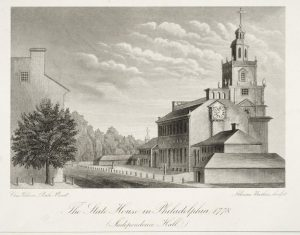 The State House in Philadelphia, 1778
