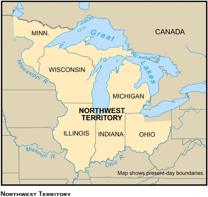 Map of the Northwest Territory