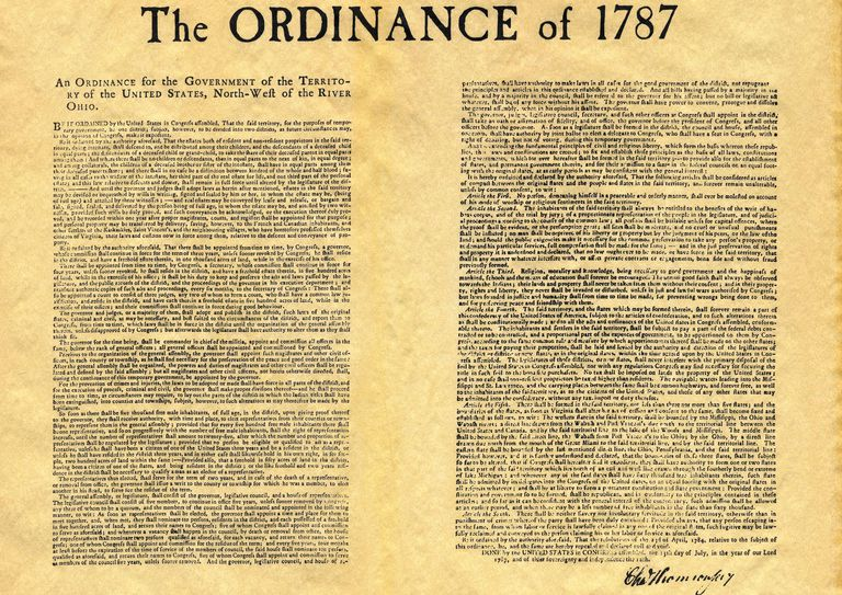 The Ordinance of 1787