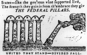 The Federal Pillars, Massachusetts Centinel, 16 January 1788
