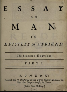 "Title page: ""Essay on Man,"" Part 1"