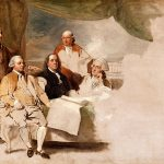 Portrait of American Peace commissioners by Benjamin West, 1783